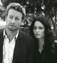 Robin Tunney and Simon Baker alias Teresa Lisbon and Patrick Jane from The Mentalist ♥ Jisbon.♥