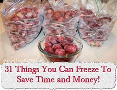 31 Things You Can Freeze To Save Time and Money!