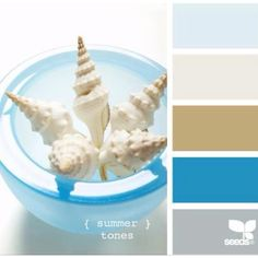 Beach colors... for the bathroom. That brown is the color of our toilets.