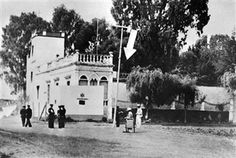 Picture taken 26 May 1940 in Mexico City showing the home of Leon Trotsky in the suburbs of Mexico City after an attempted assassination of the exiled Russian communist leader by a band of more than 20 men with machine guns an incendiary bombs. Leon Trotsky (1879-1940) was president of the St Petersburg Soviet in 1905, played a major role in the October Revolution and was commissar for war during the civil war (1917-1922). The founder of the Red Army was assassinated by Stalin's agent Ramon…