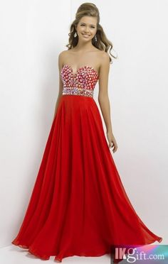 Sweetheart Chiffon and Beading Red Prom Dress - Prom Dresses - Special Occasion Dresses - Wedding & Events