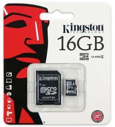 Class 4 Kingston Ultra Micro SD Memory Card 16GB