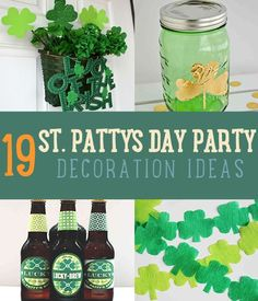 St Patricks Day Decorations | Easy & Cute DIY St. Patricks Day Ideas For Kids and For Parties By DIY Ready. http://diyready.com/19-awesome-st-patricks-day-party-decoration-ideas/