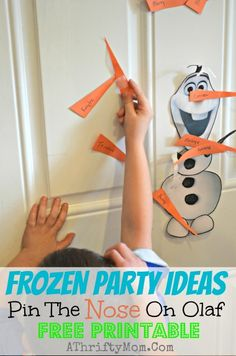 Frozen party ideas, Pin the nose on Olaf, FREE PRINTABLE #Dinsey #Frozen