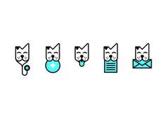 Veterinary logo icons