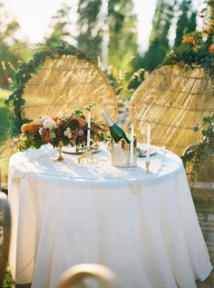 Wicker basket chairs at the sweethearts table for a late summer wedding Boho Wedding, Fall Wedding, Wedding Ideas, Late Summer Weddings, Sweetheart Table, Summer Flowers, Wicker, Beacon Hill, Table Decorations