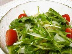 えごま油☆水菜とホタテの和風サラダの画像