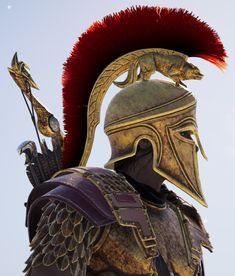 Assassins Creed Discover Its a Mans World Its a Mans World Greek Warrior, Fantasy Warrior, Scandinavian Tattoo, Spartan Tattoo, Ancient Greek Sculpture, Spartan Warrior, Armor Tattoo, Its A Mans World, Greek Art