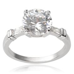 Journee Collection Sterling Cubic Zirconia Engagement Ring, Women's