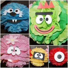 Yo Gabba Gabba Birthday Party Tissue Paper Pom Poms