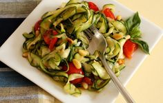 Zucchini Aglio E Olio If you are looking for a change of pace from a grain-based fettuccine noodle, look no further. In the summer you can toss zucchini noodles in a pesto, tomato or primavera sauce, or with olive oil and herbs.  This recipe is: Corn-Free, Dairy Free, Egg-Free, Gluten-Free, Rice-Free, Soy-Free