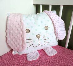 Woodland Nursery Pillow - Bunny Pillow - Rabbit Pillow - Children Pillow - Plush Animal - Decorative Pillow - Gifts For Baby Girl - Baby Boy