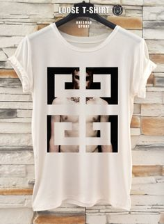 Givenchy fashion tshirt/white/black tshirt / by ANISHARsport, $18.90 Polo Shirts, Boys T Shirts, T Shirt Company, Textile Printing, Great T Shirts, My T Shirt, Men Street, Mens Clothing Styles, Shirt Style