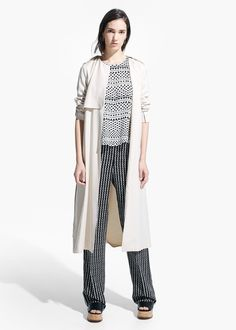 MANGO LONG TRENCH REF. 41070201 - PAPAYA $129.99