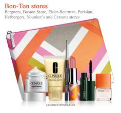 Clinique promotions at Bergners, Boston Store, Elder-Beerman, Parisian, Herbergers, Younker's and Carsons stores start today - get this Clinique gift free with your $27 purchase. http://clinique-bonus.com/other-us-stores/
