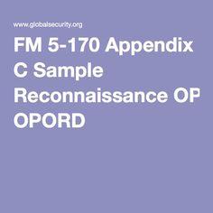 FM 5-170 Appendix C Sample Reconnaissance OPORD