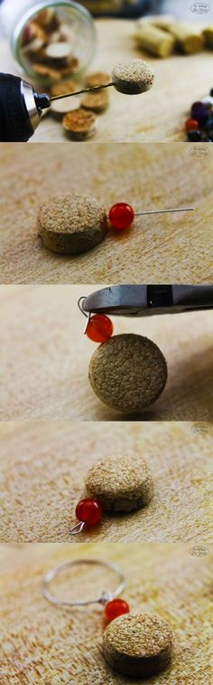 DIY Recycled Cork Wine Charms: Step by Step