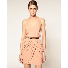 Camilla & Marc Crepe Dress With Draped Skirt found on Polyvore...simple and pretty