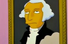 George Washington's Portrait on the Simpsons