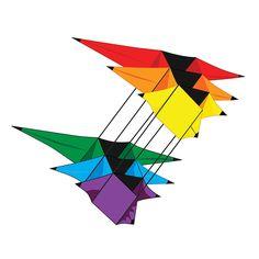 Cool looking tri-star box kite. Kites For Sale, Dragon Kite, Delta Kite, Box Kite, Stunt Kite, Go Fly A Kite, Single Line, Wind Spinners, Three Dimensional