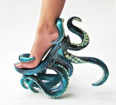 Octopus-Inspired Stilettos - These Unusual High Heels Feature Intricate Octopus . - Octopus-Inspired Stilettos – These Unusual High Heels Feature Intricate Octopus Tentacles (GALLERY) Source by - Funky Shoes, Cute Shoes, Me Too Shoes, Weird Shoes, Awesome Shoes, Trendy Shoes, Stilettos, Crazy Heels, Unique Shoes
