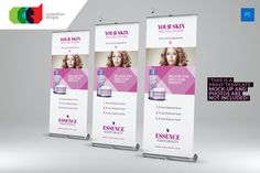 Beauty Care - Roll-Up Banner 2 Templates by Cooledition Print Templates, Psd Templates, Banner Template, Flyer Template, Pull Up Banner Design, Banner Design Inspiration, Rollup Banner, Photography Templates, Creative Photoshop