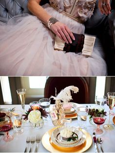 Photography: Jenny Bedard Photography / Bridal Gown: Tara LaTour / Clutch: NELLE/ Stationery & Table Decor: Tamara Anderson of Tam Dandy / Jewelry: Retrospect Designs / Flowers: Studio Emme / Cake: Buttercream / Cupcakes: Wuollet's Bakery / Location: The Gale Mansion / Model: Stephanie Cousins