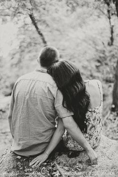 woodsy romantic engagement session. Stephanie Sunderland Photography. Cute…