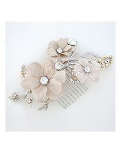 Paris by Debra Moreland Irene Convertible Flower Hair Comb & Brooch