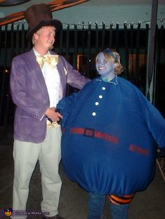 Willy Wonka and Violet as a blueberry - 2013 Halloween Costume Contest via @costumeworks