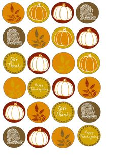 Food Art Party: Free Thanksgiving Printable Cupcake Wrappers