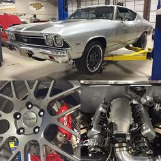 68 chevelle silver grey forgeline mesh concave wheels pro touring