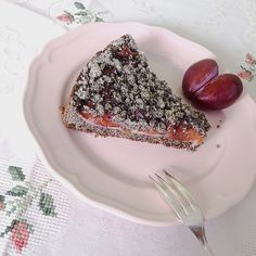Mohn-Marzipan-Pflaumenkuchen, vegan