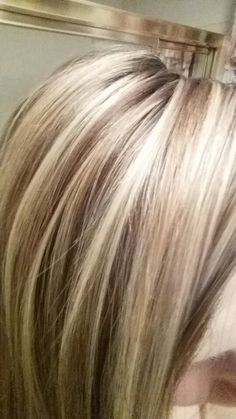 Love my hair! Highlights and lowlights Love my hair! Highlights and lowlights Chunky Blonde Highlights, Hair Highlights And Lowlights, Colored Highlights, Caramel Highlights, Highlight And Lowlights, Foil Highlights, Low Lights Hair, Light Hair, Hair Color And Cut