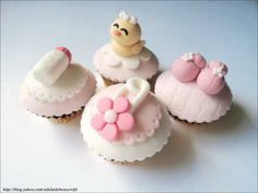 Fondant Lesson 5: How to make baby pin cupcake