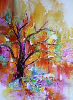After The Rain by Catalina O. Rankin.  Watercolor on Yupo