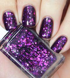 Elevation Polish Pata Puffer II | Peachy Polish - borrowable :) #purple glitter