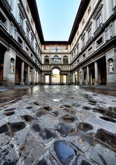 The Ufizzi Gallery -- Florence, Italy...favorite art museum of all time!!!!
