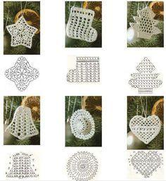 Crochet Xmas ornaments