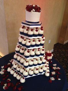 Navy and Burgundy Wedding | Navy & Burgundy Wedding Cupcakes - by BBSpecialtyCakes @ CakesDecor ...