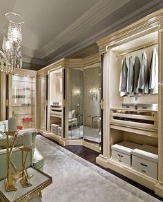 Walk In Closet Design, Bedroom Closet Design, Closet Designs, Dressing Room Closet, Dressing Room Design, Luxury Home Decor, Luxury Homes, Italian Furniture Design, Beautiful Closets