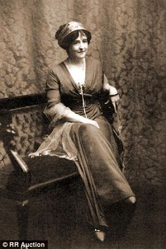 Aristocrat fashion designer and Titanic survivor Lucy Duff-Gordon aka fashion designer Lucile, sister of writer Elinor Glyn.  She was married 2ndly to Sir Cosmo Duff-Gordon, Bt, a former Olympic fencer.  Added 13 January 2015 by Shinjinee