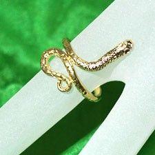 Spiral Snake Ring (adjustable) - GOLD