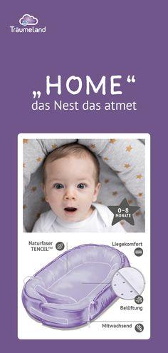 """Kennst du schon """"Home"""" das Nest das atmet? """"Home"""" ist ein ideales Nest für Babies. Wir bieten viele verschiedene Designs: grau, altrosa, Sterne gelb, Blumen, ...! Da ist für jeden Geschmack etwas dabei! Ob im Gitterbett, als Einlage im Beistellbett oder einfach auf dem Sofa – mit dem Nest """"Home"""" schläft dein Baby  überall gleichbleibend sicher. Designs, Mini, Detroit, Catholic, Gender, German, Silhouette, Lifestyle, Blog"""