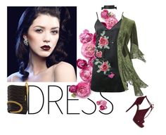 """""""Choker Dress Romance"""" by aclaire ❤ liked on Polyvore featuring WithChic, ALDO, Miu Miu, Clutch, partydress, miumiu and chokerdress"""