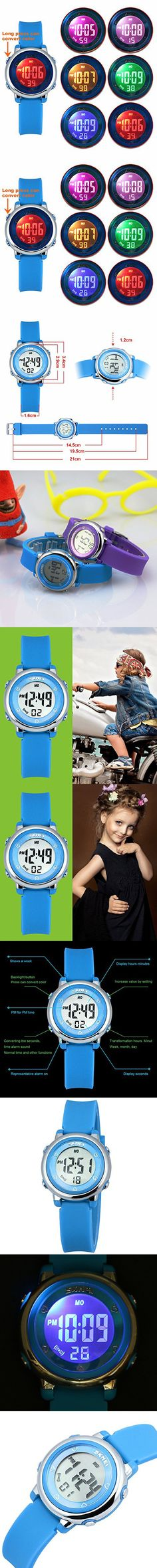 Zeiger Kids Watches Sports Cool Young Girls Boys Teen Student digital Watch, Time Teacher children -Blue