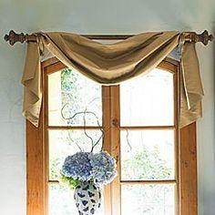I like this simple window treatment