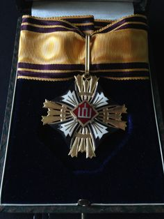 Lithuanian ORDER OF THE GRANDDUKE GEDIMINAS Third Class Cross, Type II (1930-40)