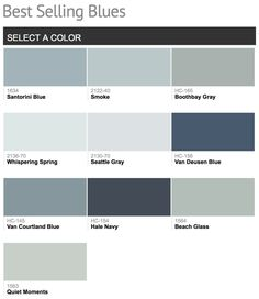 Best selling Benjamin Moore Blue Paint Colors.