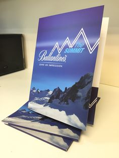 A4 presentation folder for Ballantine's whisky global conference 'The Summit'